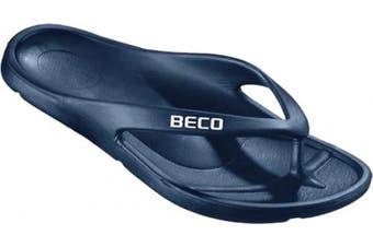 (37) - Beco Swim Beach Poolside Slippers V-Strap Flip Flop Slip-On Ultralite Poolshoe