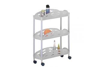 (A, 67 x 50 x 20 cm) - Axentia Plastic Trolley on Wheels, White, 67 x 50 x 20 cm