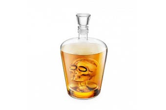 Final Touch Brainfreeze Skull DECANTER Ideal For Vodka Whiskey, Scotch, Rum Tequila & More - Holds Up To 1 Litre (1000ml) - FTA1864