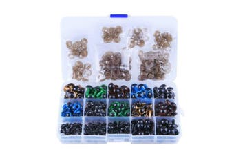 264 Pcs 6~12mm Black Plastic Safety Eyes 10/12mm Colourful Safety Eyes with Washers for Toys Puppet Teddy Bear Doll Animal DIY Crafts
