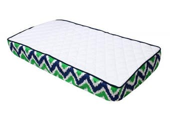 Bacati Mix and Match Changing Pad Cover, Blue/Green/White/Orange