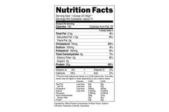 (Vanilla, 2.3kg) - Nutricost Whey Protein Concentrate (Vanilla) 2.3kg
