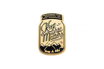 (Keep What Matters) - Asilda Store Lapel Enamel Pin [with Deluxe Pin Lock] (Keep What Matters)