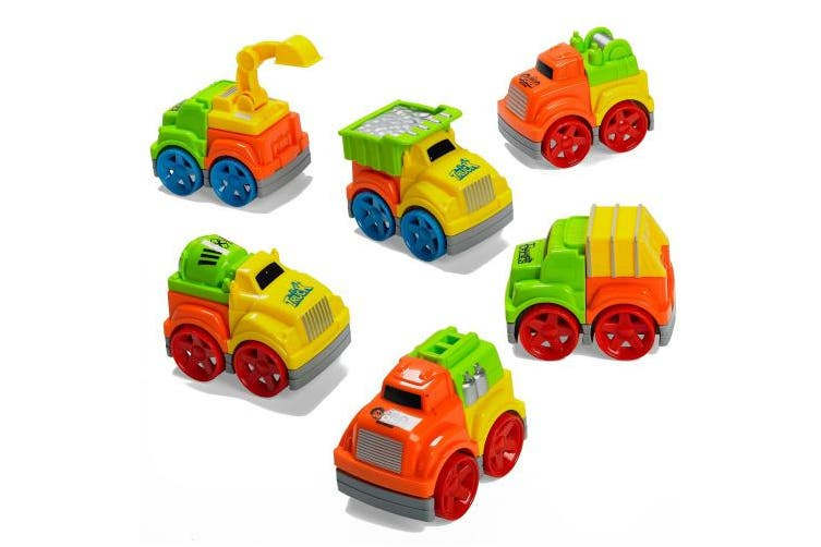 Prextex Set of 6 Friction Powered Take-apart Stocking Stuffers Vehicles Friction Powered Vehicles Toys for Boys