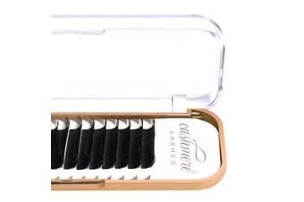 (0.15 C 8mm) - Cashmere Lashes® | Classic Ellipse Flat Split Tips Lashes | Matte Finish 0.15 C D Curl Single & Mixed Tray | Individual Eyelash Extensions (0.15 C 8mm)