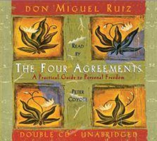 The Four Agreements: [A Practical Guide to Personal Freedom] [Audio] In The Four Agreements, don Miguel Ruiz reveals  the source of self-limiting beliefs that rob us of joy and create needless suffering. Based on ancient Toltec wisdom, the Four Agreements offer a powerful code of conduct that can  rapidly transform our lives to a new experience of freedom,  true happiness, and love. This 2-CD set blends new insights  with old wisdom.