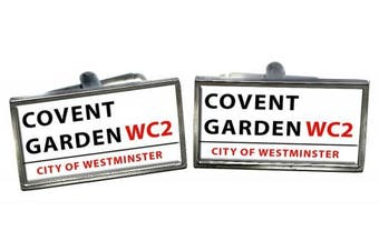 Covent Garden Cufflinks in a Chrome Case