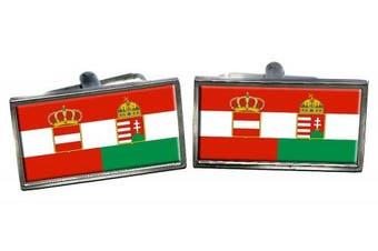 Österreich-Ungarn (Austria Hungary) Flag Cufflinks in a Chrome Case