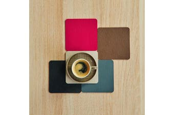 (Tischset eckig ca. 33x46cm, Stone) - ASA Placemat, Imitation leather Stone/Grey, 28 x 38 x 43 cm
