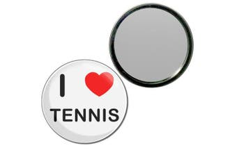 (77mm) - I Love Tennis - 77mm Round Compact Mirror