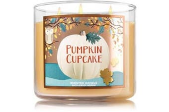 Bath and Body Works Pumpkin Cupcake 3 Wick Candle