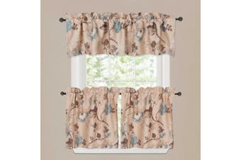 (150cm W x 38cm L-Valance Only, Vintage Floral) - Window Valance Rustic Style Ultra Soft Material Suits for Kitchen Bath Laundry Bedroom Living Room (Rod Pocket, 150cm by 38cm , Vintage Floral Pattern, Set of 1)