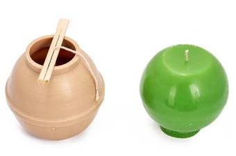 (3) - Ball diameter: 12cm - Sphere - 9.1m of wick included as a gift - Plastic candle moulds for making candles