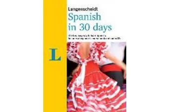 Langenscheidt In 30 Days Spanish (Berlitz in 30 Days) [Audio]