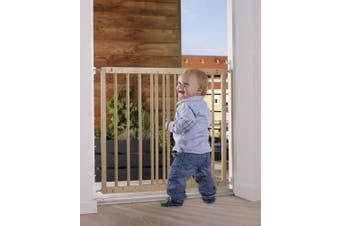 Baby Dan Multi Dan European Beech Wood Door and Stairs Safety Gate, Door Width 60.5-102 cm Colour: Natural