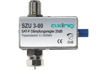 Axing SZU 3-00 adjustable attenuator for Sat with F connectors (20 dB, 0-2400 MHz)