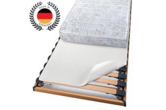 (80x200 cm) - Beautissu Mattress Protector Beautect Bed Slat Mattress Underlay 80 x 200 cm Non-Slip Rubber Backing Support Pad