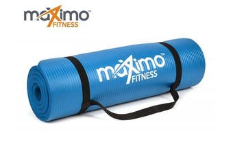 (Blue) - Maximo Exercise Mat - Premium Non-Slip Gym Mat - Multi Purpose - 183cm Length x 60cm Width x 1.2cm Thick - Perfect for Yoga, Pilates, Floor Exercises, Sit-Ups, Stretching, Home Gym - Lifetime Warranty