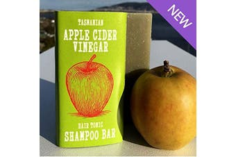 Apple Cider Vinegar Hair Tonic SHAMPOO BAR | Shiny Healthy Hair | All Natural | from Australia's Wild Island, Tasmania | Handmade by Beauty and the Bees in Tasmania Australia