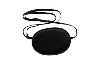 Akak Store 100% Mulberry Silk Pirate Eye Patch for Boys Kids to Reat Lazy Eye /Amblyopia /Strabismus - Not Light Leak,Smooth ,Soft and Comfortable(Small,Black)