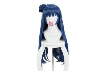 (Tsushima Yoshiko) - Cfalaicos Love Live Sunshine Tsushima Yoshiko Cosplay Wig Blue Grey Synthetic Hair 80cm Long Curly Hair Anime Cosplay Wigs