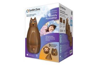 (ULTRASONIC COOL MIST HUMIDIFIER, Brown) - Comfort Zone Ultrasonic Cool Mist Family Humidifier, Brown