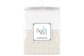 Kushies Baby Ben & Noa Change Pad with Terry Insert Percale Sheet, Linen Mini Print