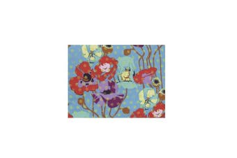 Cotton Tale Designs Lagoon Floral Fabric, Turquoise/Purple/Orange/Green