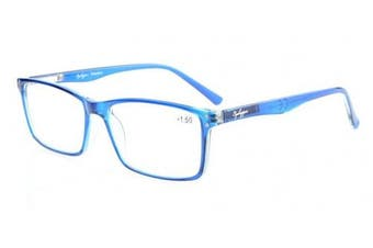 (+1.50, Blue) - Eyekepper Stylish Readers Quality Spring Hinges Reading Glasses Blue +1.5