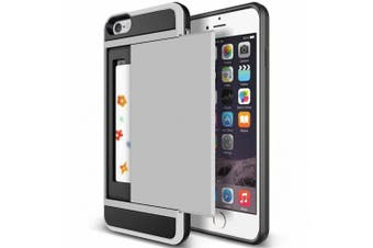 (Silver) - iPhone 7 Plus Case,Inspirationc Dual-Layer Hybrid Armour Wallet Case for iPhone 7 Plus 14cm --Silver