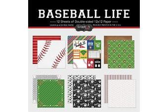 Scrapbook Customs Themed Paper Scrapbook Kit, Baseball Life