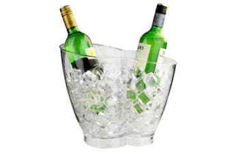 Double Bottle Drinks Pail - Plastic Wine and Champagne Cooler for 2 Bottles