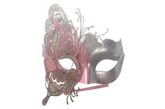 (Pink) - Coddsmz Mysterious Venetian Butterfly Shiny Butterfly Lady Masquerade Halloween Mardi Gras Party Mask