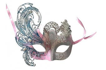 (Dark Pink) - Coddsmz Mysterious Venetian Butterfly Shiny Butterfly Lady Masquerade Halloween Mardi Gras Party Mask