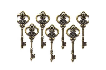 (Antique Bronze) - Aokbean Antique Bronze Finish Skeleton Keys in Antique Style - Set of 20 Keys (Antique Bronze)