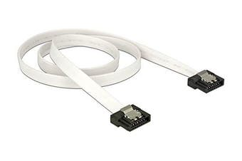 Cable SATA FLEXI 6 Gb/s 50 cm white metal
