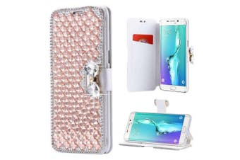 (iPhone 7 Plus[14cm ], Rose Gold) - iPhone 7 Plus Wallet Case,Inspirationc and Made Luxury 3D Bling Crystal Rhinestone Leather Purse Flip Card Pouch Stand Cover Case for iPhone 7 Plus 14cm --Rose Gold