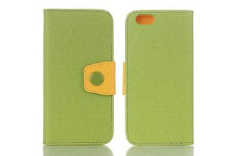 (iPhone 7, Green) - iPhone 7 Wallet Case,TechCodeScreen Protective with Cards Slots Cash Holder Function Magnetic Smart Colour PU Leather Stand Cover Flip Card Holder Wallet Case for Apple iPhone 7 12cm (iPhone 7,Green)