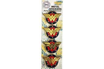 DC Comics Licenced Heavy Duty Embossed Metal Stickers 4/Pkg