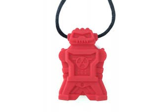 chubuddy Chewable Robot Pendant chewie robotz, non-toxic material-red