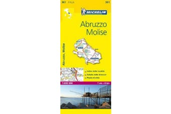 Abruzzo & Molise - Michelin Local Map 361: Map (Michelin Local Maps) [Italian]