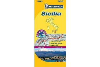 Sicily - Michelin Local Map 365: Map (Michelin Local Maps)