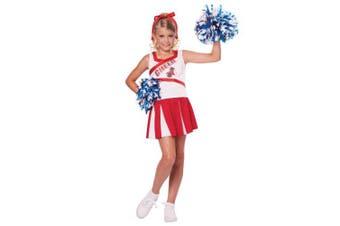 (Large (10-12), White) - California CostumesHigh School Cheerleader Costume Large (10-12)