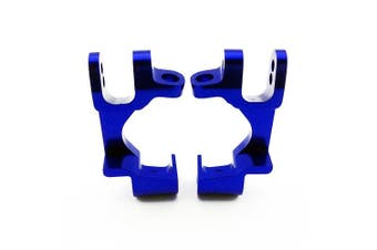Traxxas Stampede 4x4 1:10 Aluminium Alloy Front Caster Block Hop Up Upgrade, Blue by Atomik RC - Replaces Traxxas Part 6832