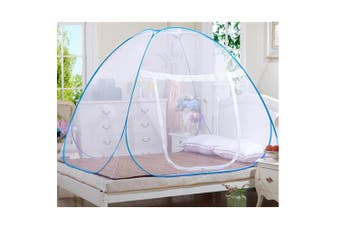 (150*200*150cm, White) - Mosquito Nets, Outdoor Mongolian Yurt Dome Net Free Installation and Folding Nets, Prevent Insect Pop Up Tent Curtains for Beds Bedroom (150*200*150cm, White)