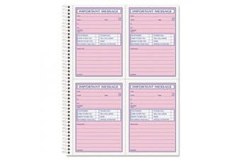 (51/2x37/8-2-part-200perbook) - Telephone Message Book, Fax/Mobile Section, 5 1/2 x 3 3/16, Two-Part, 200/Book