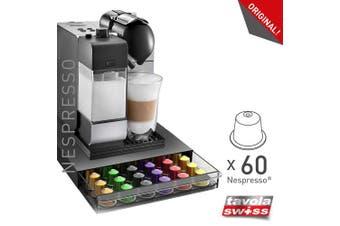 Abeba Tavola Swiss 5049036 Cassetto Holder for 60 Nespresso Capsules Plastic Multi-Coloured 39 x 28 x 4.5 cm