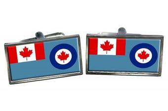 RCAF Ensign Flag Cufflinks in a Chrome Case