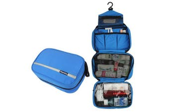 (Blue) - Travelling Toiletry Bag, Dopobo Portable Hanging Water-Resistant Wash Bag for Travelling, Business Trip, Camping (blue)