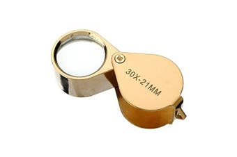 Actopus 30 X 21 Gold Colour Jewellers Magnifier Magnifying Glass Eye Loupe Detect Gold Silver Jewlery